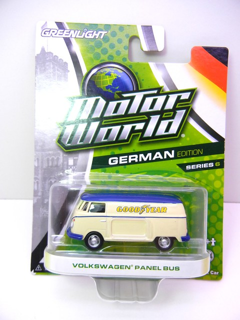 greenlight motor world volkswagen panel bus goodyear  (1)