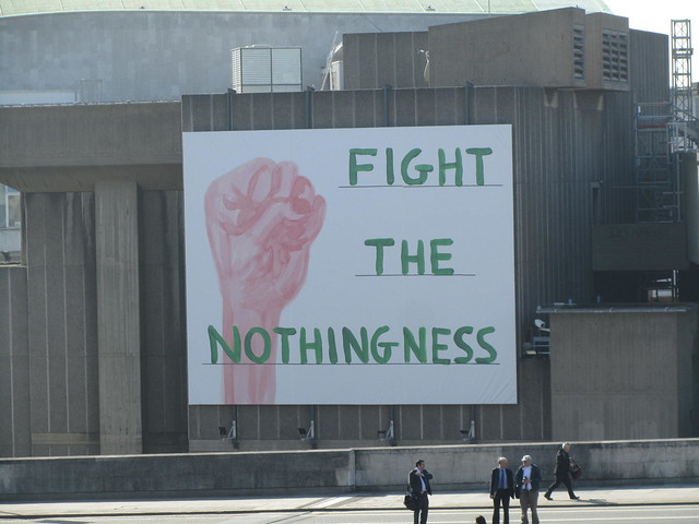 Fight the Nothingness by David Shrigley, Hayward Gallery