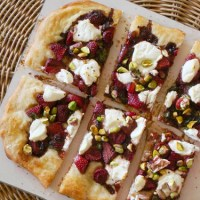 Balsamic Strawberry Basil Pizza