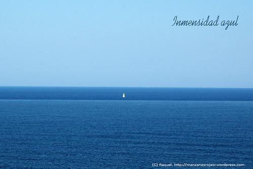 Inmensidad azul. Mar Cantábrico.
