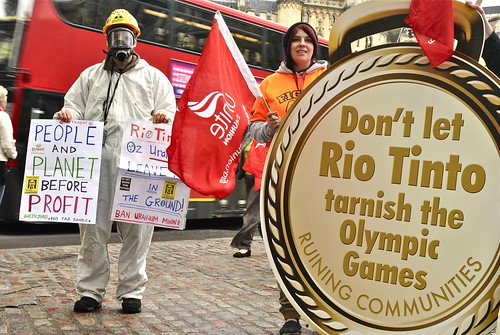 Protesters target Rio Tinto AGM