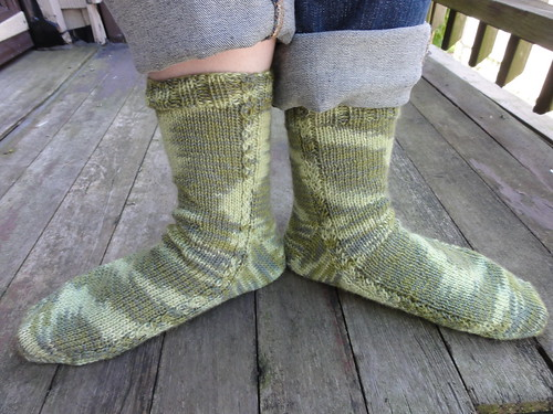 Green Brick Road Socks