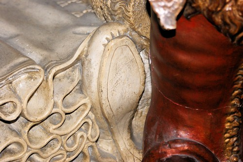 Shoe sole detail, Tomb of Mary Queen of Scots