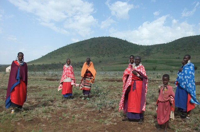 Masai women's group on their land in Arusha