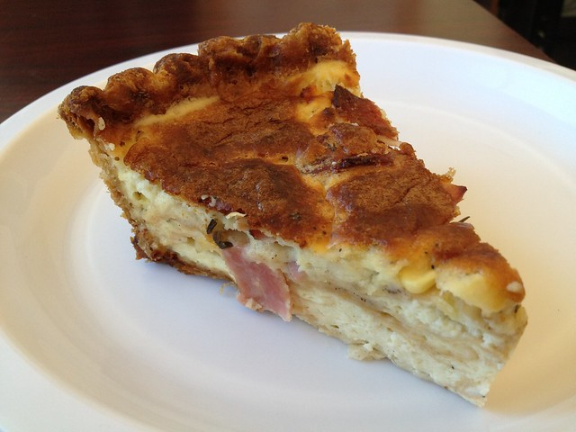 Ham and corn quiche - Tartine Bakery
