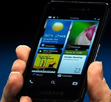 9. BlackBerry 10 prototype
