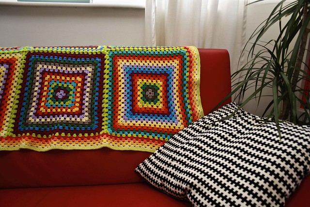 Giant Square Crochet Blanket
