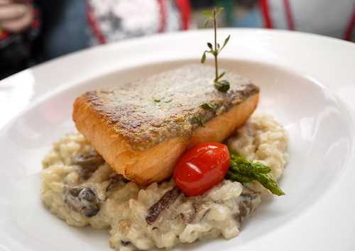 Crisp Baked Norwegian Salmon and Risotto at Tuscano Italian Wood Oven Pizza & Restaurant