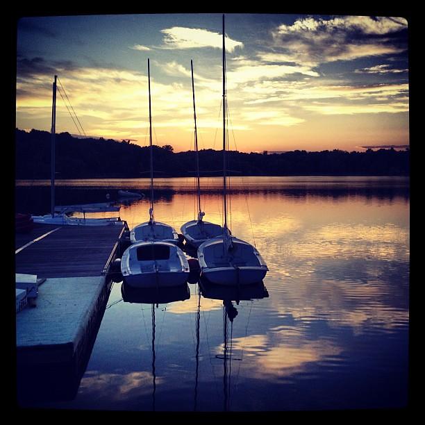 Jamaica Pond at sunset