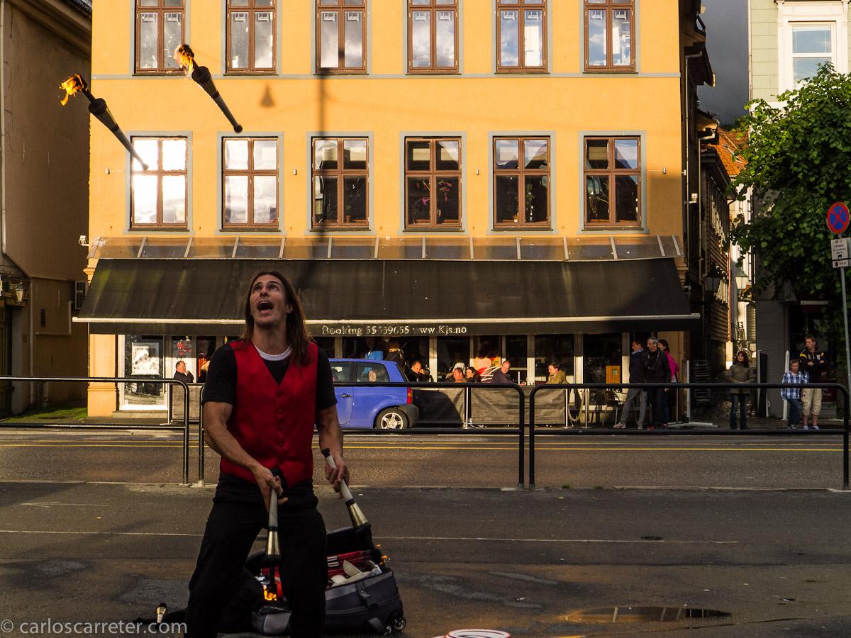 Malabarista en Bergen