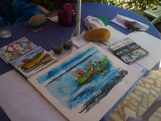 Watercolour in vacation