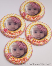 Baby Charlley christening custom cookies