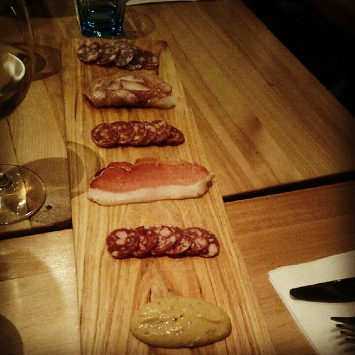 Charcuterie board at Le Comptoir