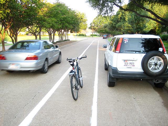 Bike Lane In Door Zone