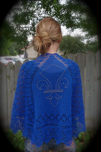 Athos shawl modeled 1