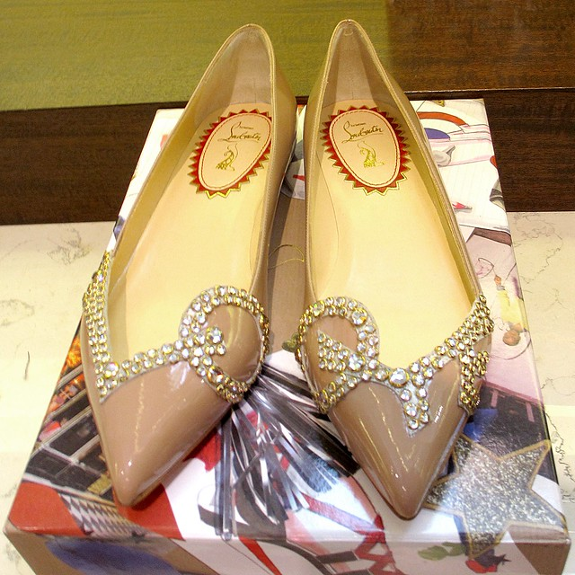 A closer look at Louboutin's Pigalle love flats