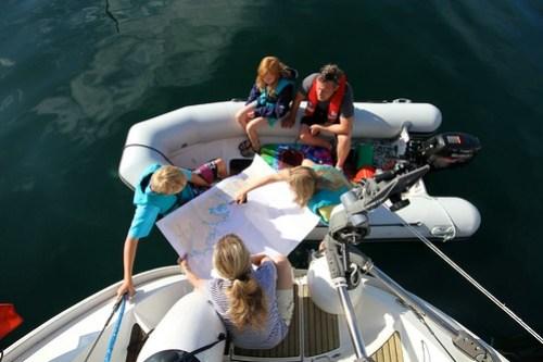 Planlegging av ruta sammen med den norske båten Occosione