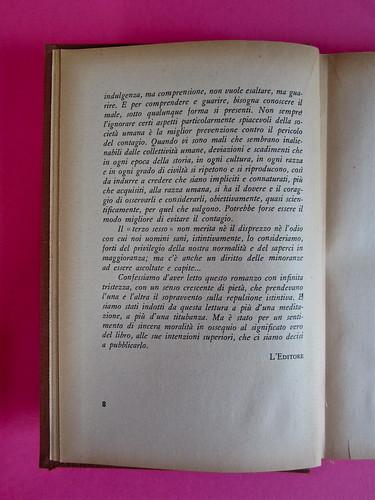 Gore Vidal, La città perversa, Elmo editore 1949. Pag. 7 (part.), 2