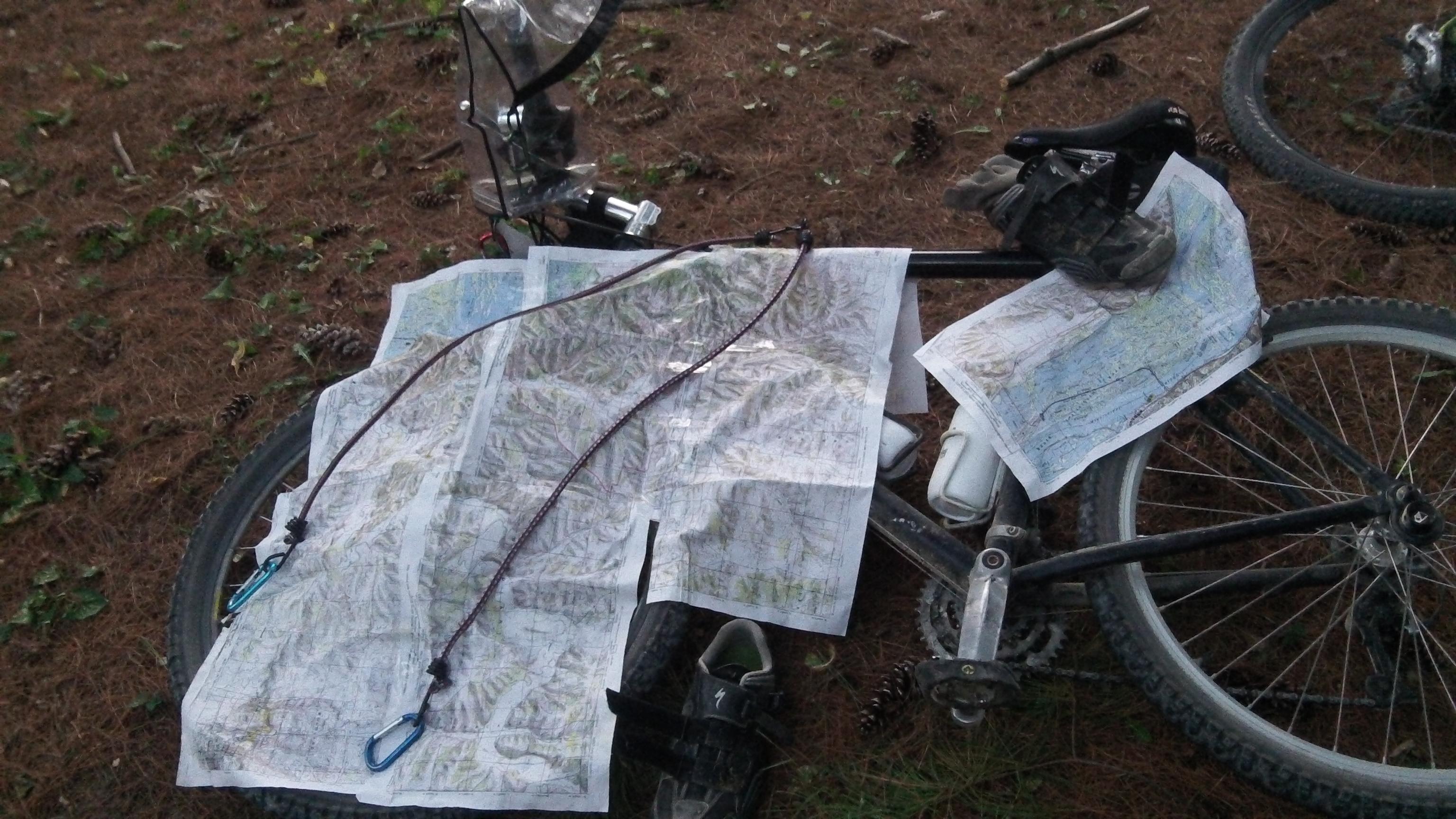 Wet maps at an adventure race