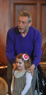 Michael Rosen and helper
