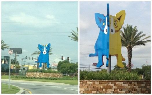 George Rodrigue Blue Dog, Yellow Dog in Metairie