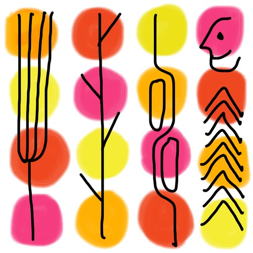 Saul Bass-inspired Doodle by Cara Medus