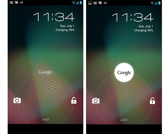 Android 4.1 Jelly Bean - Lockscreen