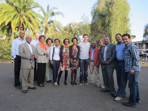 The Knowledge Management for Development (KM4Dev) Ethiopia group at the kick-off meeting (credits: ILRI / Ewen Le Borgne)