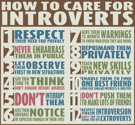 How to Care for Introverts:  Wise Words