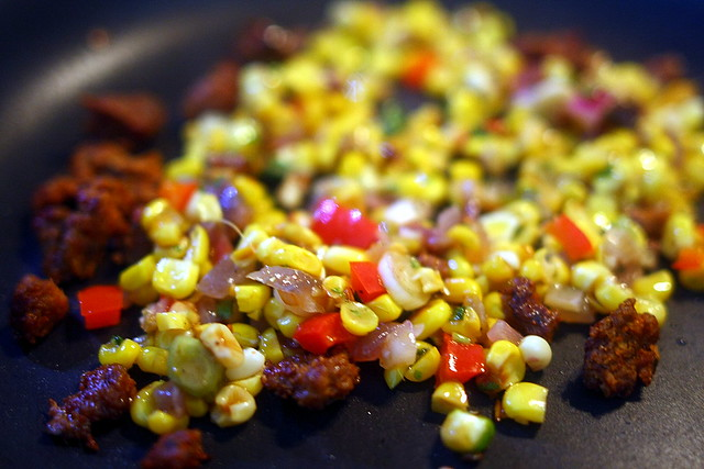 Leftover Corn and Chipotle Pepper Salad?