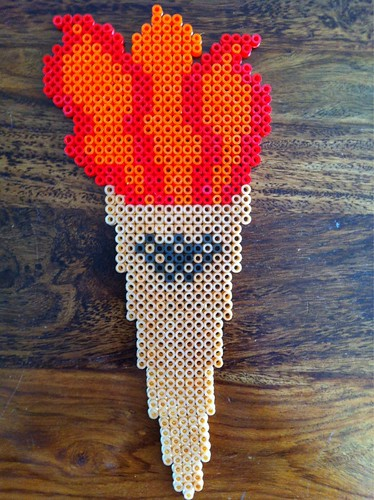 Hama Bead Sporting Torch for events held once every 4 years by bodies with no sense of fun who trademark things.