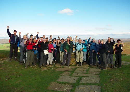 20111016-37_Midland Hill Walkers on Lose Hill Summit by gary.hadden