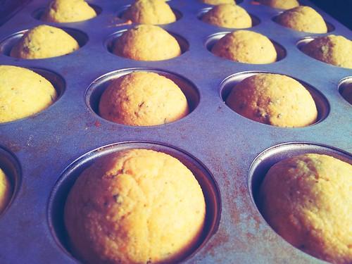 Skim Milk Rosemary Corn Muffins