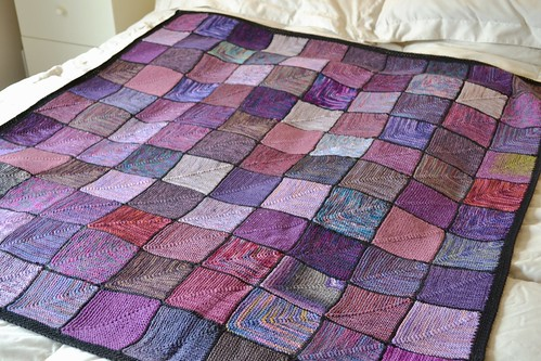 Uptownknitmob blanket for Gina