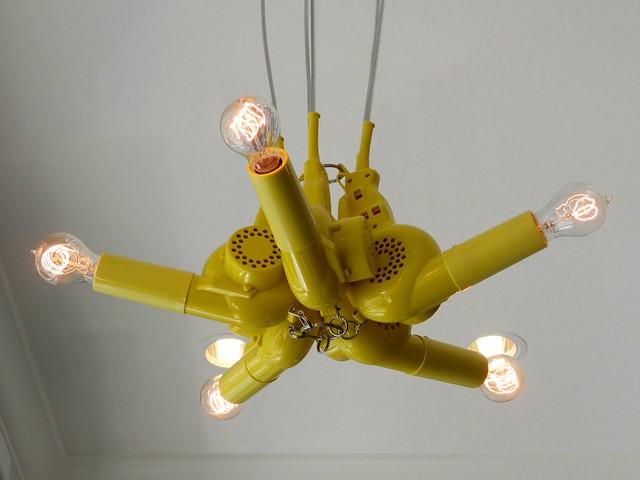 Awesome blowdryer lamp at Drybar