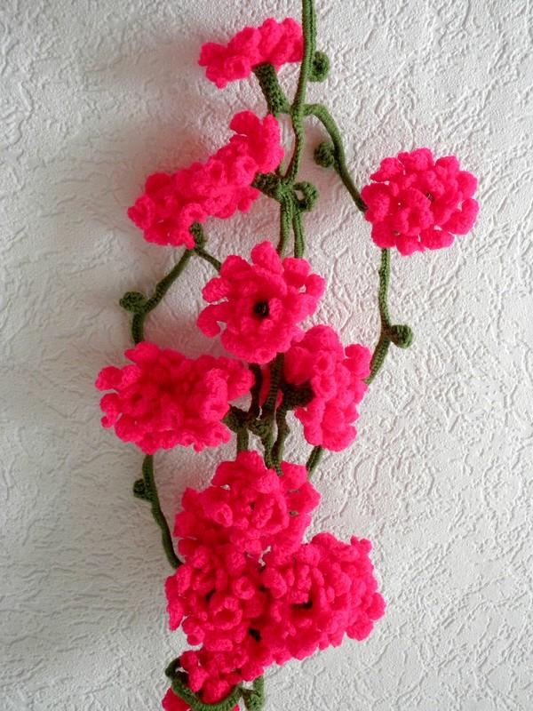 Blütenlichterkette pink aus