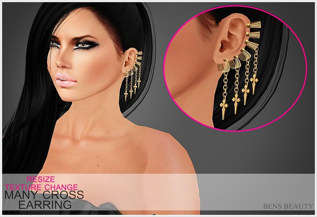 MANY CROSS EARRING