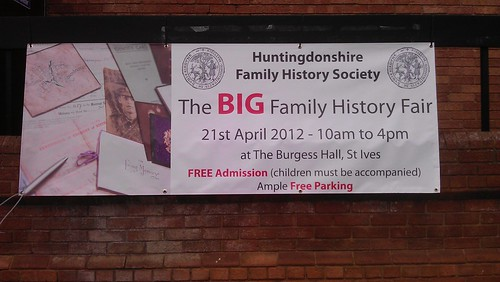The BIG Family History Fair banner
