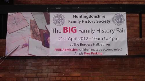 The BIG Family History Fair banner