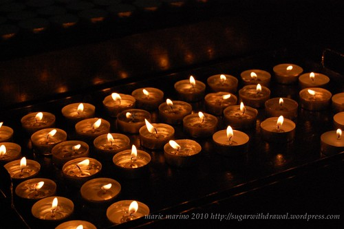 Holy Thursday Candles at Pater Noster