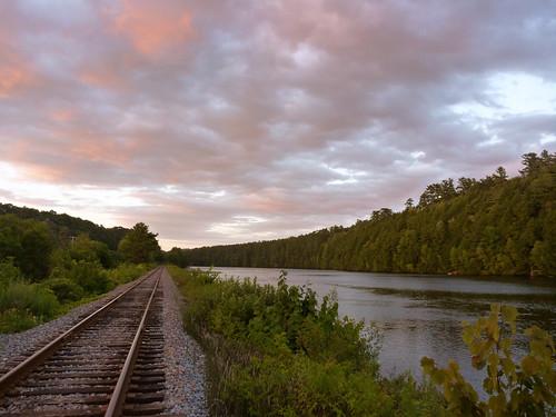 Connecticut river sunset