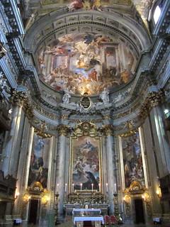 Altar and fresco in Church of St. Ignatius