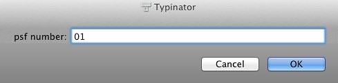 Typinator variable
