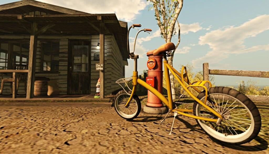 Roche's scene: the bike outside