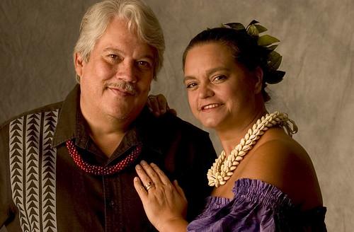Keola Beamer with Moanalani Beamer (his wife and partner) / Maui Arts and Cultural Center