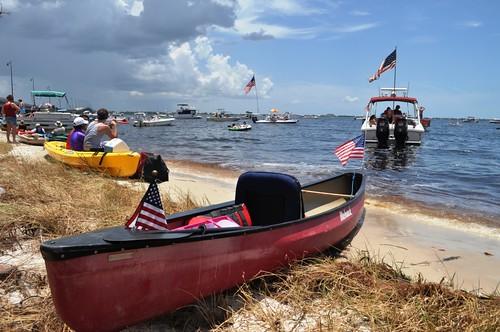 21st Annual Charlotte Harbor Freedom Swim Across the Peace River, Charlotte Harbor to Punta Gorda, July 4, 2012