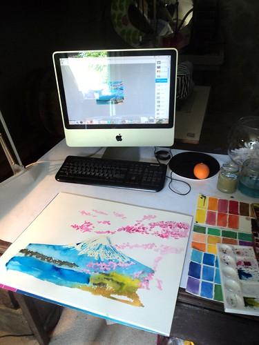 watercolour Japan