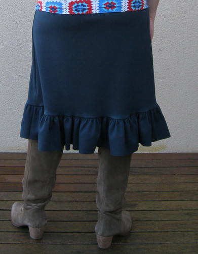 New Look 6463 with added hem ruffle