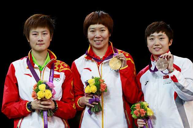 """Team China"" sweeps table tennis women's singles  medal"