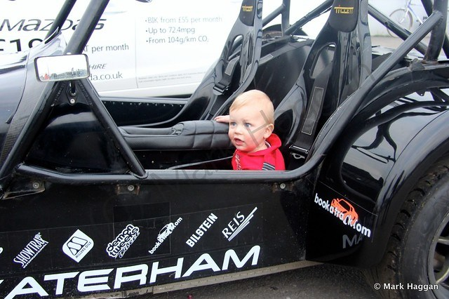 Xander in a Caterham